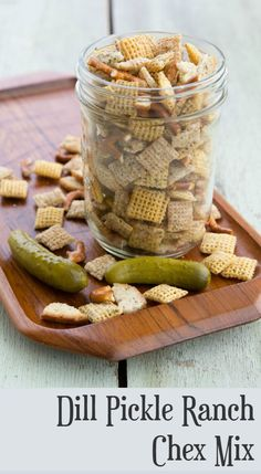 Summer outdoor living deserves the best outdoors snacks. So we bring you Dill Pickle Ranch Chex Mix! Put it out on the backyard patio and watch it disappear...