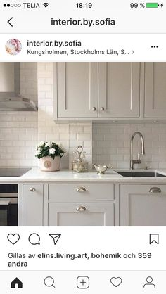 Oldfarmhouse — Farmhouse Kitchen Accents Of Subway Tile on Home Inteior Ideas 6998 Ikea Kitchen, Home Decor Kitchen, Kitchen Interior, Kitchen Furniture, Kitchen Cabinets, Kitchen Tiles, Küchen Design, Design Ideas, Cool Kitchens