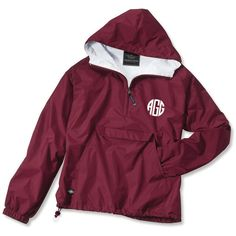 A must have to look oh so cute in nasty weather! Greek letters are also available! Price includes chest monogram only. If you would also like a hood monogram, …