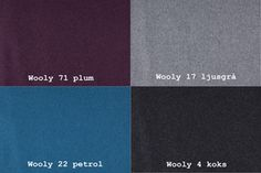 Wooly 71 Plommon / Wooly 17 Ljusgrå / Wooly 22 Bensin / Wooly 4 Koks Från Hovden Wooly 71 Plum / Wooly Light Grey / Wooly 22 Petrol / Wooly 4 Koks From Hovden