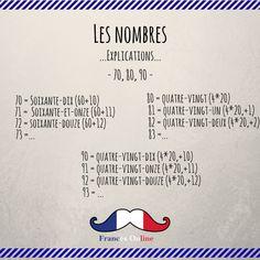Aujourd'hui, on essaye de comprendre les numéros en français ! - Hoy intentamos entender los números en francés ! - Today we try to understand French numbers ! - #Français #Francés #French #Language #Idioma #FLE #DELF #DALF #FrancésOnline #Idiomafrancés #Frenchlanguage #Hablarfrances #Speakfrench #Parlerfrançais #Aprenderfrances #learnfrench #apprendrelefrançais #coursdefrançais #classedefrançais #Frenchnumbers #Numeros French Verbs, French Grammar, French Teaching Resources, Teaching French, French Language Lessons, French Lessons, French Flashcards, Learn To Speak French, French Education