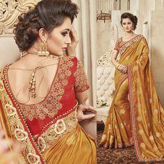 Bollywood Wedding Party Wear Bridal Saree Dress Indian Sari Blouse Free Shipping #Handmade #Saree