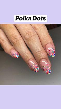 Cute Gel Nails, Funky Nails, Cute Acrylic Nails, Pastel Nail Art, Nail Art Designs Videos, Short Nail Designs, Designs On Nails, Simple Nail Design, Gel Manicure Designs