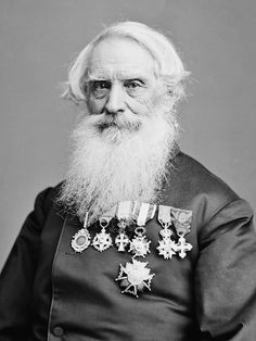 """Samuel F. Morse - You are viewing an important image of Samuel F. It was taken between 1855 and The picture shows Samuel F. Morse, inventor of the telegraph, and the now famous """"Morse Code"""". Vintage Photographs, Vintage Photos, Samuel Morse, Morse Code, Important People, Interesting History, Historical Pictures, World History, Family History"""