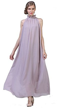Yacun Women's Chiffon Bridesmaid Dress Long Party Evening Maxi Gown Dresses ** See this awesome image @