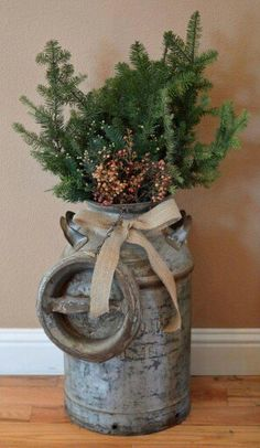 38 Marvelous Rustic Farmhouse Christmas Decor Ideas, Bring The Natural Festive T. : 38 Marvelous Rustic Farmhouse Christmas Decor Ideas, Bring The Natural Festive T. Farmhouse Christmas Decor, Outdoor Christmas, Christmas Home, Christmas Holidays, Christmas Ornaments, Christmas Entryway, Christmas Ideas, Simple Christmas, Homemade Christmas