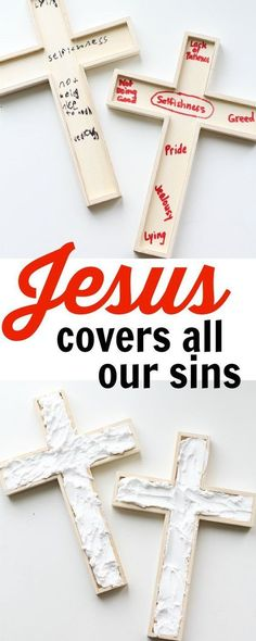 Jesus Covers All Our Sins: A Hands-on Demonstration of Redemption. A great Easter activity for Good Friday!