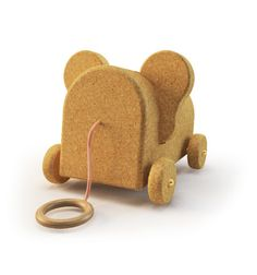 Carry around, Elephant, Bear, Mouse, interchangeable ears, Cork animal, by Margaux Keller Design Studio