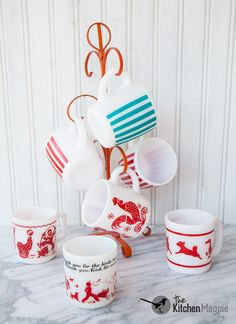Vintage Hazel Atlas Mugs From Personal Collection Click The Pic To See Her Entire Glass