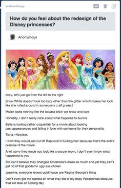 New Disney Princesses' Design