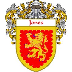 Jones Irish Coat of Arms   namegameshop.com has a wide variety of products with your surname with your coat of arms/family crest, flags and national symbols from England, Ireland, Scotland and Wale