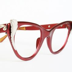 2034f11b4c6 Red Tura Vintage Cat Eye Glasses or by VintageCatEyeGlasses