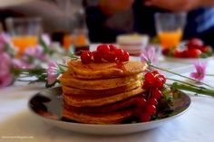 Experience a unique flavor combination with carrot cake pancakes!