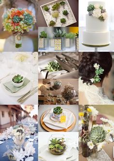 Wedding Flowers and Decorations Using Succulents - Moody Monday - The Wedding Community Blog