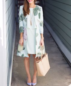 Spring outfit w/floral Ted baker coat.