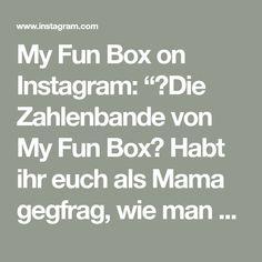 """My Fun Box on Instagram: """"🌈Die Zahlenbande von My Fun Box🌈 Habt ihr euch als Mama gegfrag, wie man am besten den Kindern die Zahlen beibringt? Hier eine spielerische…"""" Math Equations, Box, Instagram, Numbers, Game, Studying, Snare Drum, Boxes"""