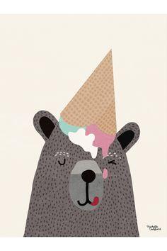 Michelle Carlslund poster - I <3 Ice Cream