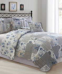 Another great find on #zulily! Blue Alana Five-Piece Quilt Set #zulilyfinds