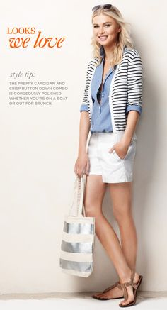 Ann Taylor..longer walking shorts for me, but love everything else and would wear it.
