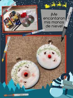 ¡Muñequitos de nieve sonrojados y con ojitos pispiretos!  #ConAzor