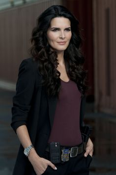 Another straight chick we want on our team: Angie Harmon (Detective Jane Rizzoli on Rizzoli and Isles)