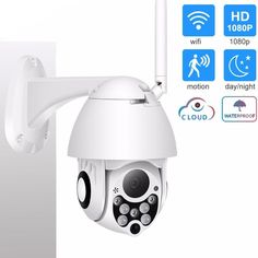 Ip Security Camera, Wireless Security Cameras, Security Surveillance, Ptz Camera, Wireless Ip Camera, Home Security Systems, Hd 1080p, Wifi, Outdoor