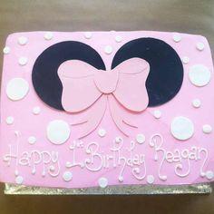 1246 minnie mouse birthday sheet cake