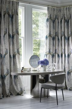 Wedgwood Home - Fabrics & Wallcoverings by Blendworth: Fabled Crane Print