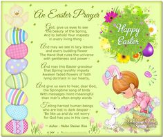 Short Happy Easter Poems and Prayers Blessing For Toddlers Kids Students Children, Inspiring Easter Prayers For Churches, Easter Thoughts From the Bible Easter Poems, Easter Prayers, Easter Sayings, Happy Easter Quotes Jesus Christ, Easter Quotes Christian, Easter Speeches, Easter Cards Religious, Helen Steiner Rice, Sunday Prayer