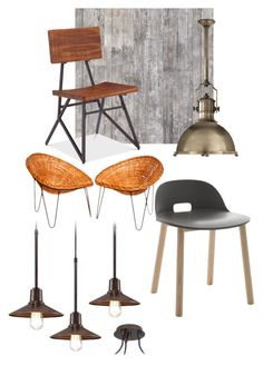 """""""My industrial cafe"""" by chesyj on Polyvore featuring interior, interiors, interior design, home, home decor, interior decorating, NLXL and Franklin Iron Works"""