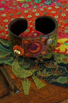 Richly Patterned Moon Cuff