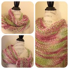Fiesta La Boheme Easy One-Skein Shawl Free Knitting Pattern #knitting #yarn #free #shawl #wrap