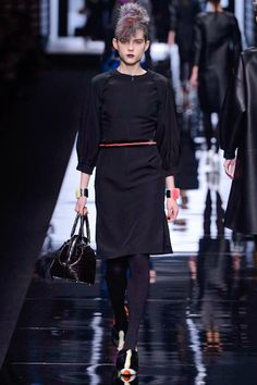 Preppy/punk/elegant Fendi fall 2013. The HAIR.