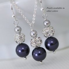 Bridesmaid Gift  CHOOSE YOUR COLORS Swarovski by alexandreasjewels