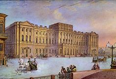 The Mariinsky Palace in St. Petersburg.  The palace was Emperor Nicholas I's wedding gift to his eldest daughter, Grand Duchess Maria Nikolaevna, Duchess of Leuchtenberg.