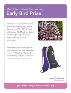 March of dimes fundraising incentives and prizes