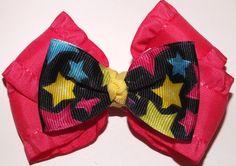 Pink w/ stars bow $5