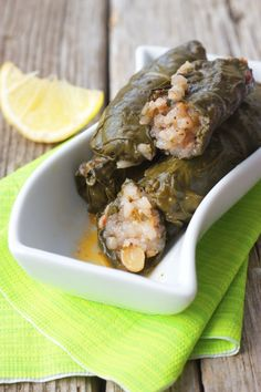 Swiss Chard Stuffed with Zesty Herb Rice & Chickpeas~very good, the rice filling is a great rice pilaf on its own, skipped the cinnamon, heavy on sumac and lemon, sautee the onion and tomato first