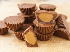 Bookmark this chocolate candy recipe to make a batch of Homemade Reese's Peanut Butter Cups.