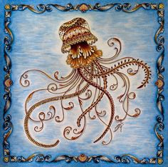 Yehhh.... Finished my Lovely Jellyfish in the Lost Ocean#johannabasford