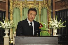 """My Whole Life is Thunder""  Alec Baldwin as Jack Donaghy, Steve Whitmire as Kermit"
