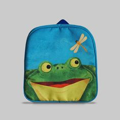 Excited to share the latest addition to my #etsy shop: Rybka - Small Backpack 2-3 Years, Kids Backpack, Toddler Bag, Preschool Kids, Playgroup bag, Frog http://etsy.me/2Ctmupn #bagsandpurses #backpack #blue #green #kids #toddlerbag #preschoolkids #playgroupbag #gift