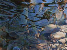 Adrian Deckbar    Water Layers , 2008   Acrylic on canvas  40 x 30 in.