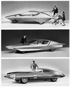 GM Runabout, Buick Century Cruiser (Firebird IV), and the GM X Stiletto.