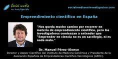 Charla con Manuel Pérez-Alonso sobre emprendimiento científico en España. #EmprendimientoCientífico #Emprendedores #CientíficosEmprendedores Alonso, Marketing Digital, Socialism, Medicine, Small Talk, Interview, Science, Social Networks