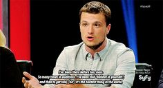 Josh Hutcherson's advice to SyFy's Face/Off contestant, Alan Carnes, who was eliminated   Honest heartfelt encouraging advice and yet it's so heart wrenching when you realized that he was revealing his true experience! :(