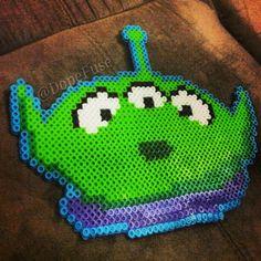 Hama Boncuklarıyla Oyuncak Hikayesi Uzaylı Oyuncak - Toy Story Alien perler beads