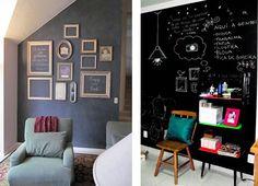 como fazer parede com efeito de quadro negro - Pesquisa Google