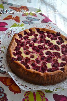 Keittiössä, kotona ja puutarhassa: Vadelmainen New York Cheesecake