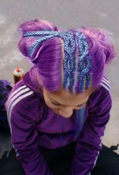 Pink and purple hair Unique Hairstyles, Up Hairstyles, Steam Punk, Festivals, Locks, Candy Hair, Grunge, Hair Again, Alternative Hair